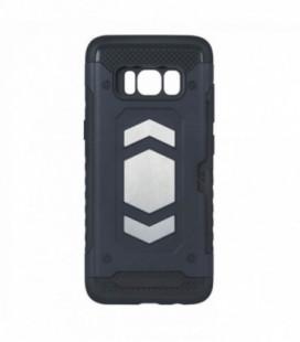 """Matinis juodas dėklas Samsung Galaxy M20 telefonui """"Spigen Rugged Armor"""""""