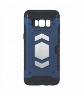 """Dėklas """"Defender Magnetic"""" Samsung A750 A7 2018 tamsiai mėlynas"""