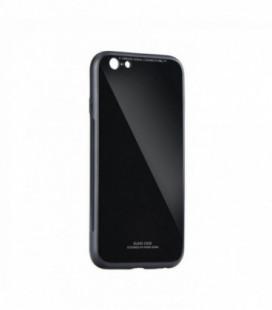 """Dėklas """"Glass Case"""" Samsung A750 A7 2018 juodas"""