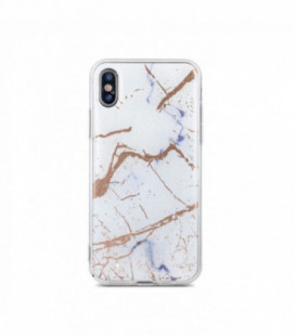 Dėklas Marmur Samsung A750 A7 2018 baltas