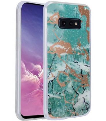 Dėklas Marmur Samsung G970 S10e žalias