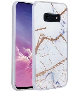 Dėklas Marmur Samsung G970 S10e baltas