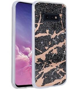 Dėklas Marmur Samsung G970 S10e juodas