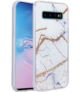 Dėklas Marmur Samsung G975 S10 Plus baltas