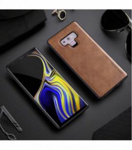 """Rausvai auksinės spalvos atverčiamas dėklas Samsung Galaxy A40 telefonui """"Dux Ducis Skin"""""""