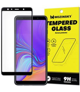 """Juodas apsauginis grūdintas stiklas Samsung Galaxy A7 2018 telefonui """"Wozinsky Full Glue"""""""