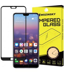 """Juodas apsauginis grūdintas stiklas Huawei P20 Pro telefonui """"Wozinsky Full Glue"""""""