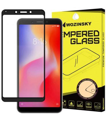 """Juodas apsauginis grūdintas stiklas Xiaomi Redmi 6 telefonui """"Wozinsky Full Glue"""""""