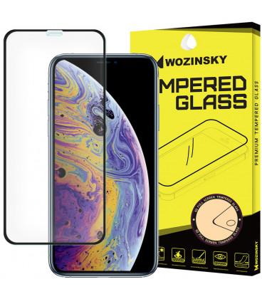 """Juodas apsauginis grūdintas stiklas Apple iPhone X/XS telefonui """"Wozinsky Full Glue"""""""