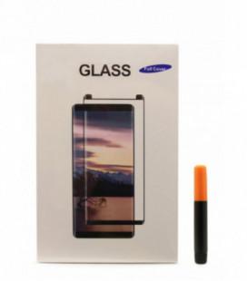 """LCD apsauginis stikliukas M1 """"5D UV Glue"""" Samsung G955 S8 Plus lenktas skaidrus"""