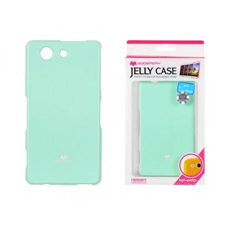 "Mėtos spalvos dėklas Mercury Goospery ""Jelly Case"" Sony Xperia Z3 Compact telefonui"