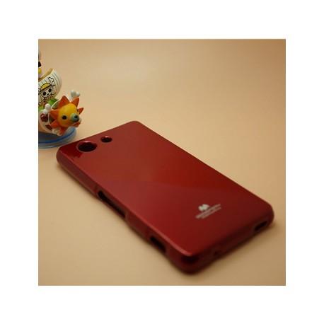 "Raudonas dėklas Mercury Goospery ""Jelly Case"" Sony Xperia Z3 Compact telefonui"
