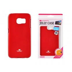"""Raudonas dėklas Mercury Goospery """"Jelly Case"""" Samsung Galaxy S6 Edge telefonui"""