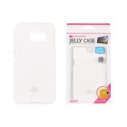 """Baltas dėklas Mercury Goospery """"Jelly Case"""" Samsung Galaxy S6 Edge telefonui"""
