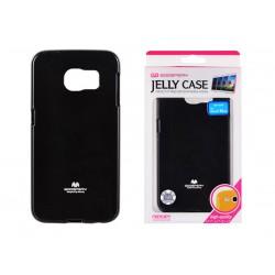 """Juodas dėklas Mercury Goospery """"Jelly Case"""" Samsung Galaxy S6 Edge G925 telefonui"""