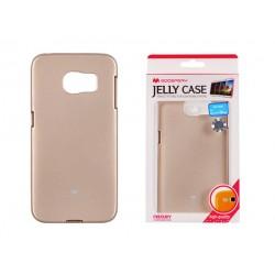 """Auksinės spalvos dėklas Mercury Goospery """"Jelly Case"""" Samsung Galaxy S6 Edge telefonui"""