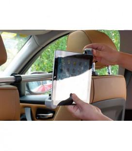 Automobilinis Universalus planšetinio kompiuterio laikiklis CTH-08 (9-20 cm), tvirtinamas ant sėdynių atlošų, tarp sėdynių