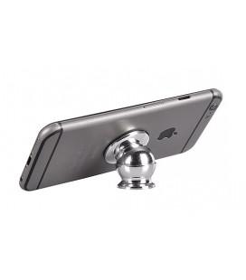 Automobilinis Universalus telefono laikiklis CPH-28, klijuojamas, magnetinis, sidabrinis
