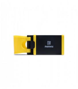 Automobilinis Universalus telefono laikiklis Remax RM-C11, kabinamas ant vairo juodas-geltonas