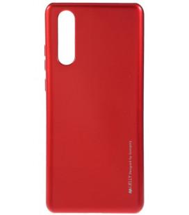 """Raudonas silikoninis dėklas Huawei P30 telefonui """"Mercury iJelly Case Metal"""""""