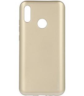 """Auksinės spalvos silikoninis dėklas Huawei P Smart 2019 telefonui """"Mercury iJelly Case Metal"""""""