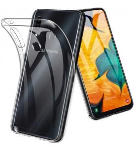 Skaidrus plonas 0,3mm silikoninis dėklas Samsung Galaxy A40 telefonui