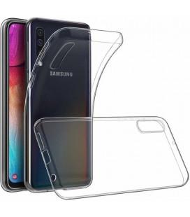 Skaidrus plonas 0,3mm silikoninis dėklas Samsung Galaxy A70 telefonui