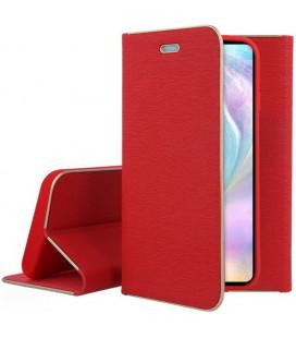 """Raudonas atverčiamas dėklas su rėmeliu Huawei P30 telefonui """"Book Vennus Z"""""""