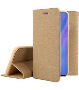 """Auksinės spalvos atverčiamas dėklas su rėmeliu Huawei P30 Pro telefonui """"Book Vennus Z"""""""