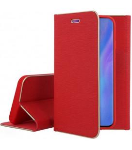 """Raudonas atverčiamas dėklas su rėmeliu Huawei P30 Pro telefonui """"Book Vennus Z"""""""