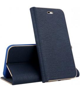 """Mėlynas atverčiamas dėklas su rėmeliu Samsung Galaxy S10 telefonui """"Book Vennus Z"""""""