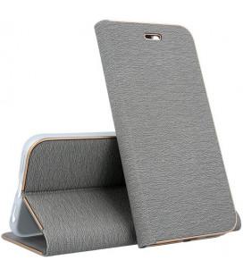 """Pilkas atverčiamas dėklas su rėmeliu Huawei P20 telefonui """"Book Vennus Z"""""""