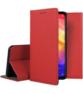 """Raudonas atverčiamas dėklas Xiaomi Redmi 7 telefonui """"Smart Book Magnet"""""""