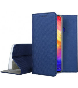 """Mėlynas atverčiamas dėklas Xiaomi Redmi 7 telefonui """"Smart Book Magnet"""""""