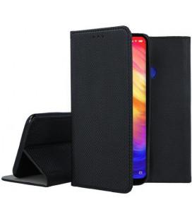 """Juodas atverčiamas dėklas Xiaomi Redmi 7 telefonui """"Smart Book Magnet"""""""