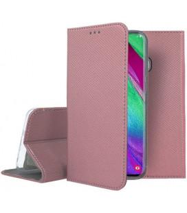 """Dėklas """"Smart Magnet"""" Samsung A405 A40 rožinis-auksinis"""