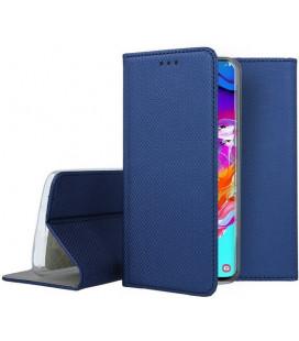 """Mėlynas atverčiamas dėklas Samsung Galaxy A70 telefonui """"Smart Book Magnet"""""""
