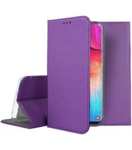 """Violetinis atverčiamas dėklas Samsung Galaxy A50 telefonui """"Smart Book Magnet"""""""