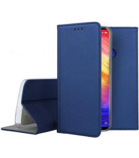 """Mėlynas atverčiamas dėklas Xiaomi Redmi Note 7 telefonui """"Smart Book Magnet"""""""