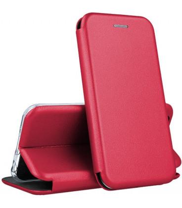"""Dėklas """"Book Elegance"""" Samsung G970 S10e vyno raudona"""