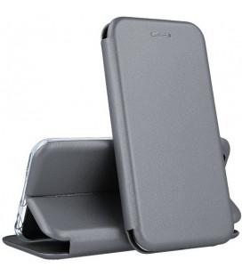 "Dėklas ""Book Elegance"" Apple iPhone 5/5S/5SE pilkas"