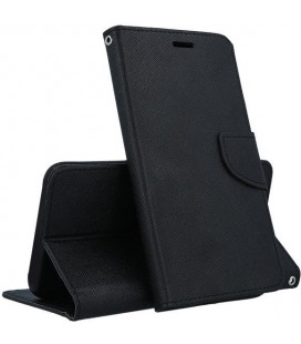 """Juodas atverčiamas dėklas LG G7 ThinQ telefonui """"Telone Fancy"""""""