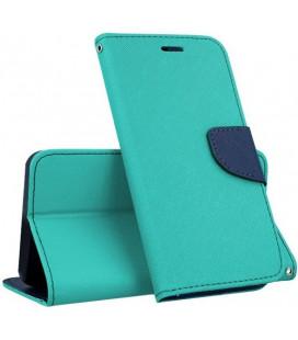"""Mėtos spalvos atverčiamas dėklas Samsung Galaxy J4 Plus 2018 telefonui """"Telone Fancy"""""""