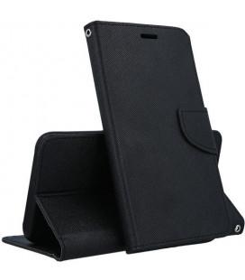 """Juodas atverčiamas dėklas Samsung Galaxy J4 2018 telefonui """"Telone Fancy"""""""