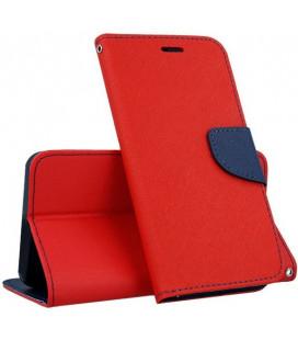 """Raudonas atverčiamas dėklas Huawei P10 Lite telefonui """"Telone Fancy"""""""