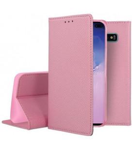 """Rožinis atverčiamas dėklas Samsung Galaxy S10 Plus telefonui """"Smart Book Magnet"""""""