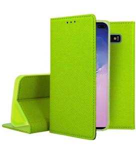"""Žalias atverčiamas dėklas Samsung Galaxy S10 Plus telefonui """"Smart Book Magnet"""""""