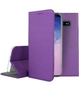 """Violetinis atverčiamas dėklas Samsung Galaxy S10 Plus telefonui """"Smart Book Magnet"""""""