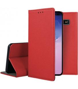 """Raudonas atverčiamas dėklas Samsung Galaxy S10 Plus telefonui """"Smart Book Magnet"""""""