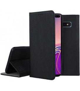 """Juodas atverčiamas dėklas Samsung Galaxy S10 Plus telefonui """"Smart Book Magnet"""""""